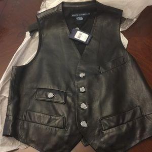 Ralph Lauren (Blue Label) Black Lambskin Vest